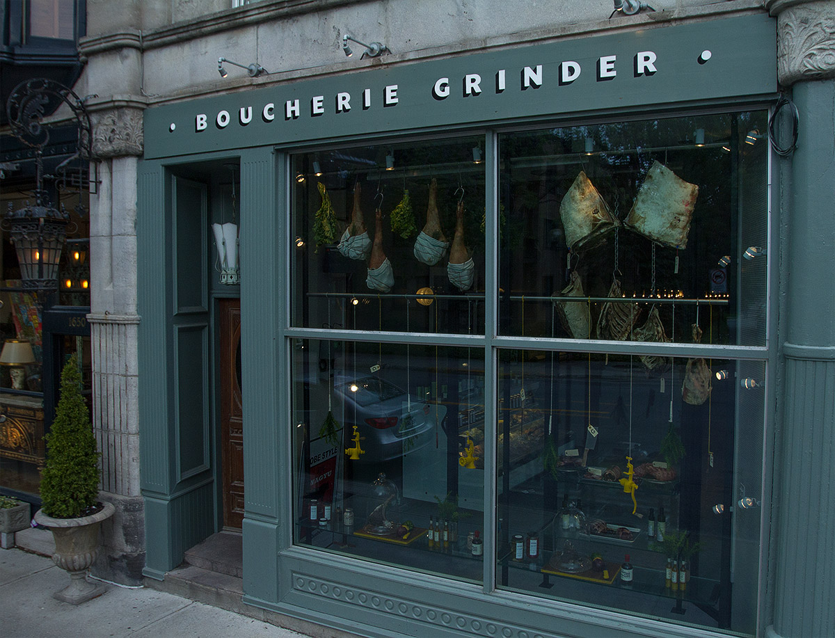 Boucherie Grinder Lettering Coppers and Brasses